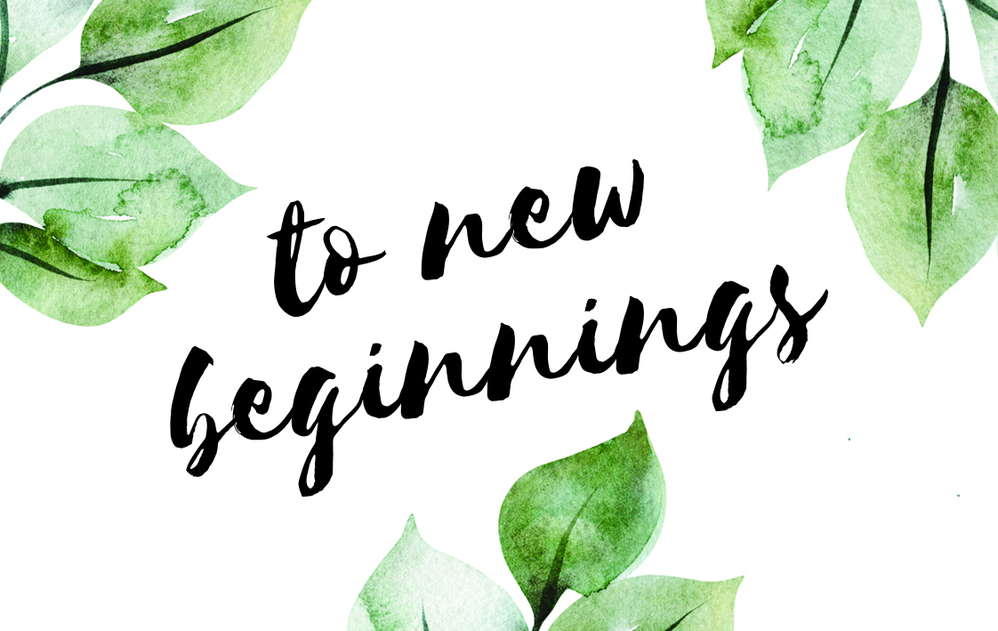 To New Beginnings Card
